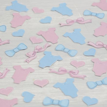Pink & Blue Baby Shower Table Confetti